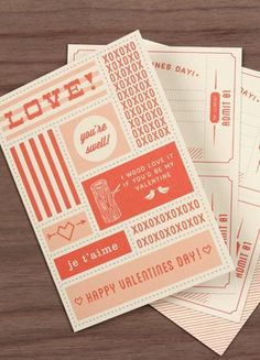 Free Printable: Vintage Valentine Coupon Book 2