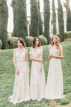 Inesse, Cassie + Nyla Dresses in Floral Print by Jenny Yoo