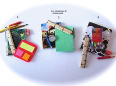 Stationery miniature kits   scale 1/12 and 1/6  by Graziemini