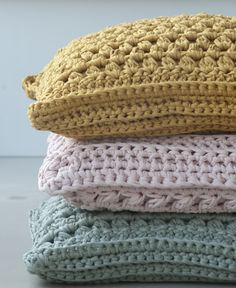 Lovely crochet cushions by Studio Aagje