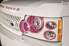 White & Pink Range Rover