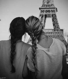 BFF in Paris. I relate so much to this because my BFF is blond and I'm brunette Cute Quotes, Great Quotes, Inspirational Quotes, Funny Sayings, Daily Quotes, Best Friends Forever, My Best Friend, Closest Friends, Dear Friend