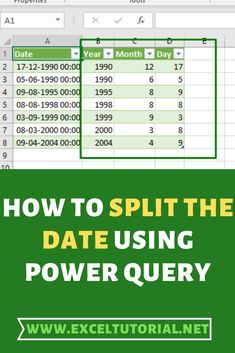Power Query or Get & Transform (from excel allows you to split your date into the year, month and day. Computer Basics, Computer Help, Computer Technology, Computer Programming, Computer Tips, Energy Technology, Technology Gadgets, Excel Tips, Excel Hacks