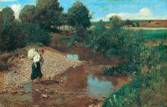 Szinyei, Merse Pál (1845-1920) -  Stream, 1883/94