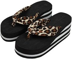 Bettyhome Women Leopard Thongs Casual Wedges Sandals Beach Flip Flops Slippers 5 BM USEUR 36 brown *** Continue to the product at the image link.(This is an Amazon affiliate link and I receive a commission for the sales) #WomensFlipFlopsSandals