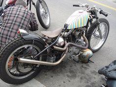 "sportsterarmy: "" (via fuckmyspace+unkown+iron+head. Custom Moped, Custom Bobber, Custom Choppers, Custom Motorcycles, Chopper Motorcycle, Bobber Chopper, Motorcycle Style, Harley Bobber, Harley Davidson Motorcycles"