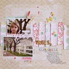 #papercraft #scrapbook #layout. Corrie Jones