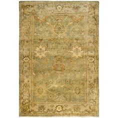 Safavieh Oushak Collection OSH115B Hand-Knotted Wool Area Rug, 4-Feet by 6-Feet, Green and Beige Safavieh http://www.amazon.com/dp/B00G4IZHW8/ref=cm_sw_r_pi_dp_EBSLvb08P24Z3