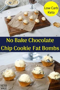 No Bake Chocolate Chip Cookie Fat Bombs Sugar Free Low Carb Keto Recipe