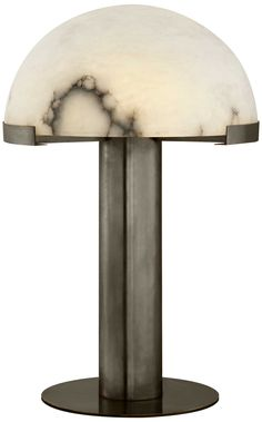 KELLY WEARSTLER | MELANGE TABLE LAMP. Alabaster stone shade coupled with luxe metals.