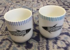 Isoì - Proudly Handmade Stuff for your HomeFish cups - shop at - www.isoiclothing.com