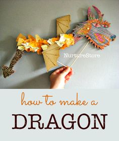 How to make a cool Chinese dragon craft :: dragon puppet - great Chinese New Year craft