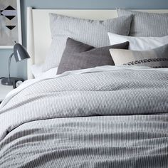 Striped Belgian Flax Linen Duvet Cover + Shams: Remodelista