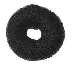Moño Mignon relleno sintetico de color negro para ser mas voluminoso el cabello.