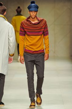 Strips my favorite! I like a lot of blue with pink, orange, and brown! Burberry SS 2012