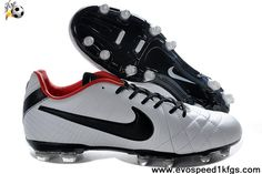 2013 New Nike Tiempo Legend IV Elite FG White black red Football Boots On Sale
