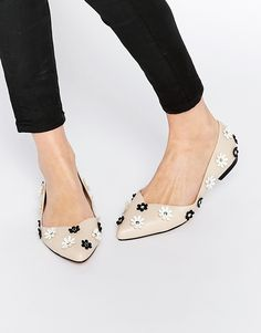 ASOS LILA Embellished Pointed Ballet Flats at asos.com. PointuChaussures  FemmesChaussons ... 8f1de9b950ae