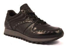 CAFè NOIR LPA111 010 PA111 Nero Sneakers Scarpa Uomo Borchie Invernale Pelle ef57c1b61a7
