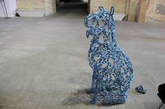 Metal chain sculpture of a dog Contemporary Sculpture, Metal Chain, Sculptures, Formal Dresses, Dogs, Fashion, Dresses For Formal, Moda, Formal Gowns