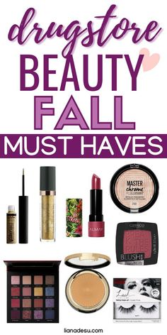 Create your perfect fall/autumn makeup look with these drugstore beauty fall/autumn essentials! All of the must-have drugstore makeup and skincare products you need this fall to create a glam, smokey, sultry look that's perfect for fall! #drugstore #makeup #skincare #beauty #fall #autumn Best Drugstore Makeup, Drugstore Makeup Dupes, Best Makeup Products, Beauty Products, Beauty Tips, Beauty Hacks, Makeup Must Haves, Makeup To Buy, Beauty Must Haves