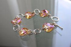 ...I designed this bracelet to link Swarovski Twist Sew-on Stones...simple, elegant...