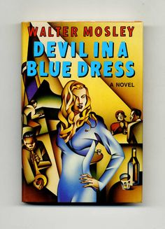 Book devil in a blue dress