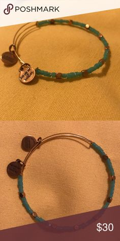 Alex & Ani Odyssey Bead **Rare** This bracelet is from Summer 2015 and this sea glass color sold out quickly! Worn maybe once, it's in perfect condition. Alex and Ani Jewelry Bracelets