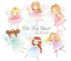 Cute Fariy Clipart Fairy clipart PNG file-300 dpi. by HandMek