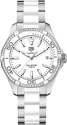 Tag Heuer Aquaracer White Dial Ladies Watch WAY131HBA0914 ** You can find out more details at the link of the image.