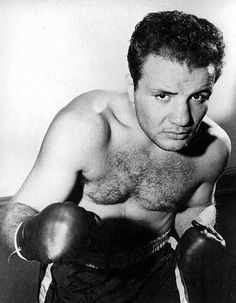 "Jake LaMotta - ""The Bronx Bull"" Great Italian boxer - the first man to beat Sugar Ray Robinson down."