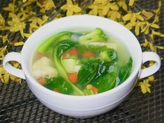 """Vegetable Clear Soup _ Some people do not like creamy soups and this recipe is the one for them. Vegetable clear soup"""" is much tastier than it sounds!"""