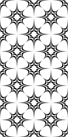 Seamless monochrome pattern from concentric curved stars