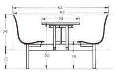 "I am pinning this for reference. We can move the orientation of your nook. The short wall is 53"" and the long wall is 79"". This mean you have plenty of space to back the bench up to the short wall. Add a comfortable table and pair it with two chairs. Existing metal or existing L.R. chairs."