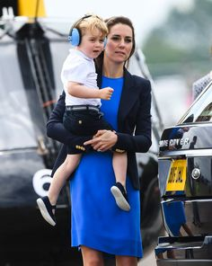 Pin for Later: Prince George Is THE Cutest While Catching a Helicopter Ride With His Mum and Dad