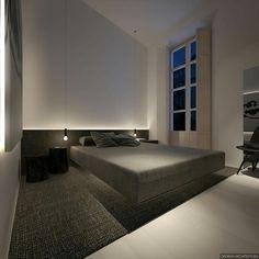 "styletaboo: ""Oporski Architektura - House in Malaga [Spain, "" Minimalist Interior, Minimalist Bedroom, Minimalist Home, Master Bedroom Design, Home Bedroom, Modern Bedroom, Interior Architecture, Interior Design, Round Beds"