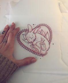 Morgen TERMINAUSFALL! Wer morgen spontan Lust und Zeit hat darf sich gerne dieses Motiv tätowieren lassen!bei Interesse schreibt mir eine Nachricht!✌️ #tattoo #sketch #drawing #tattoodesign #potd #rabbit #ink #illustration #igers #friedatätowierungen #neotraditional