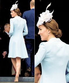 The Duchess of Cambridge attends a National Service of Thanksgiving as part of the 90th birthday celebrations for The Queen at St Paul's Cathedral on June 10, 2016 in London, England.