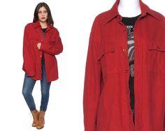 70s Flannel Shirt HUDSON BAY Red Flannel by GravelGhostVintage