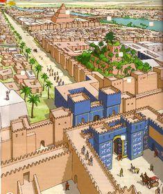 Ancient Egypt Art, Ancient Mesopotamia, Ancient Civilizations, Ancient History, Art History, Ancient Greek, Fantasy Art Landscapes, Fantasy Landscape, Historical Architecture