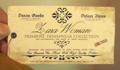 Zara Woman denim hangtag