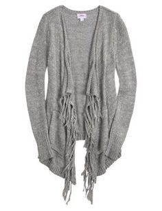 Lightweight Ribbed Cardigan | Girls Fashion Tops Tops | Shop ...