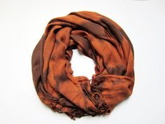 Hand-dyed, Up-cycled Brown and Rust Bleached Scarf Pashmina Shawl Wrap Men's Fashion, Fall 2013 Men's Fashion, Man Scarf, Men's Scarf, Winter Scarf Patient Peony Austin, TX