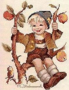 Solo Patrones Punto Cruz (pág. 1298) | Aprender manualidades es facilisimo.com Cross Stitch Fairy, Cross Stitch Embroidery, Cross Stitch Designs, Cross Stitch Patterns, Family Ornament, Cross Stitch Christmas Ornaments, Holly Hobbie, Old World Charm, Needlepoint