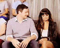 FINCHEL / MONCHELE awwww her face brighten up when he did that, he never showed pda when doing an interview. It was like him saying even though I wanna stay private i'm so proud she is mine. Love
