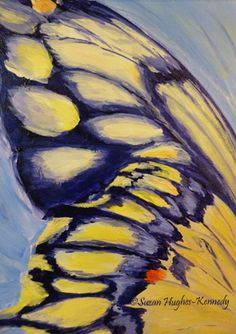 Day 24 Butterfly Study 9/25/13 5″x7″ Acrylic on Unstretched Canvas $15.00