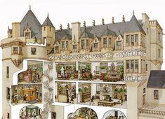Renaissance Architecture, Historical Architecture, Ancient Architecture, Architecture Details, Classical Architecture, House Architecture, Fantasy Castle, Fantasy House, Building Drawing