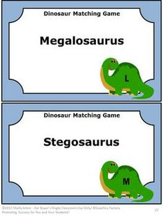 Dinosaurs: This 36 page packet is full of scrambled Dinosaurs names! Students will love unscrambling the mixed up names of dinosaurs! These names of dinosaurs task cards will be great fun in your science center. Students love dinosaurs!
