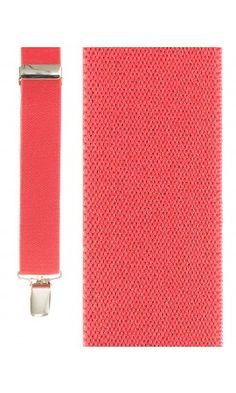 Fluorescent Red Newport Suspenders