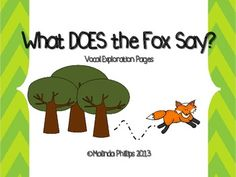 TpT FREEBIE! Voice Exploration pages with a link to a video on YouTube with actual fox calls