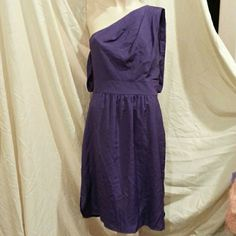 Vince Camuto Pleated One Shoulder Dress. (128)